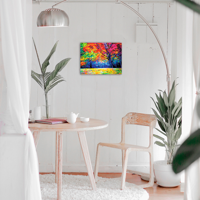 Set goblen cu diamante, cu sasiu, Autumn Forest, 40x50 cm 1