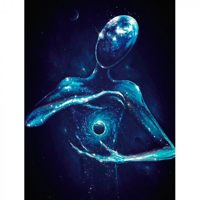 Goblen cu diamante, cu sasiu, Galaxy, 40x50 cm 0