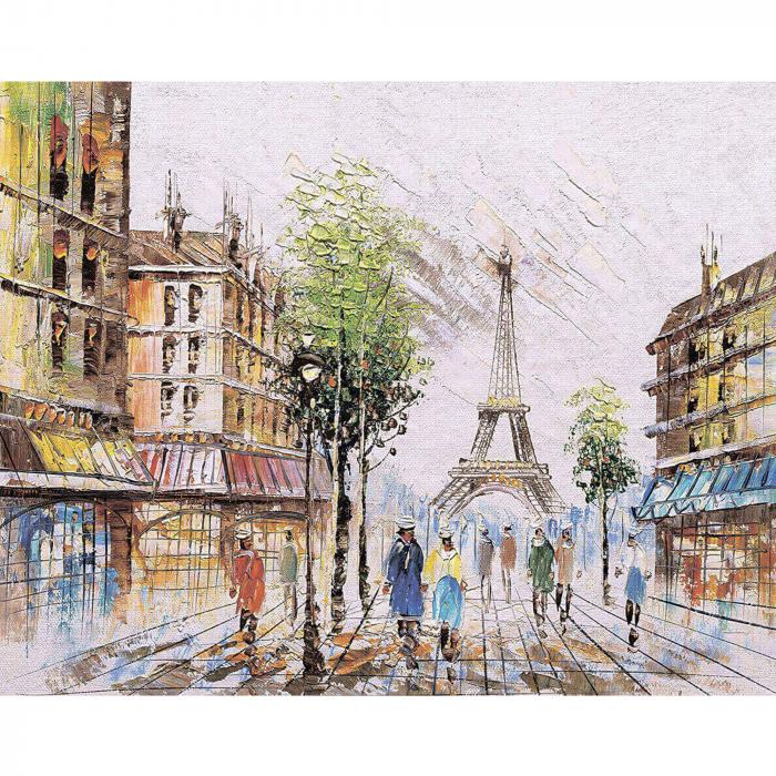 Goblen cu Diamante, cu sasiu, Impresie din Paris, 40x50 cm [0]