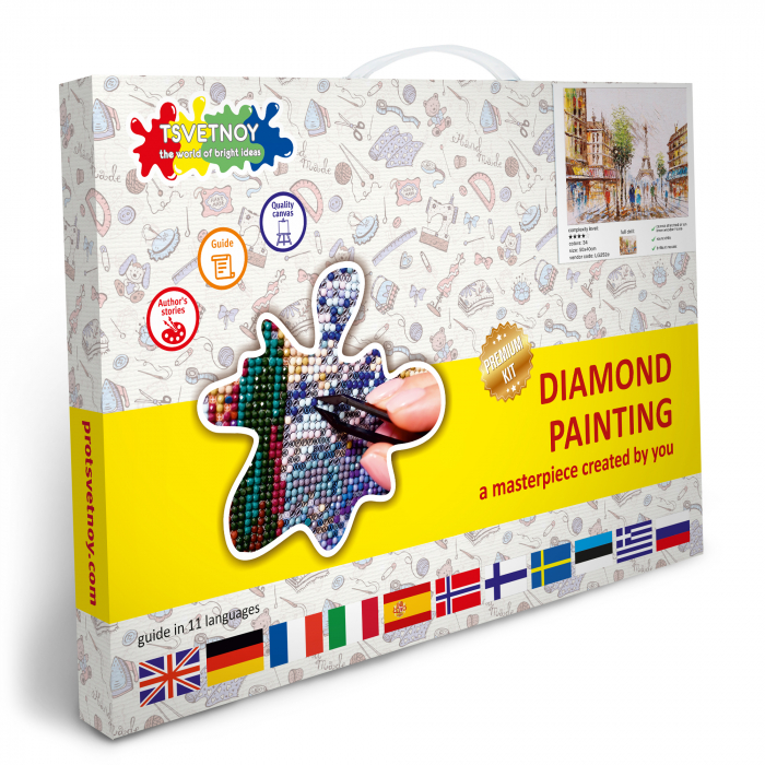 Goblen cu Diamante, cu sasiu, Impresie din Paris, 40x50 cm [4]