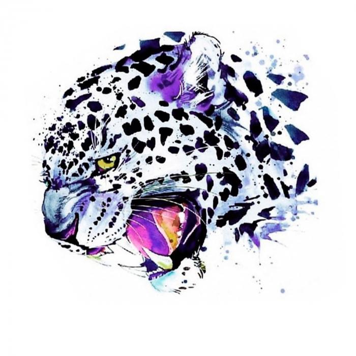 Goblen cu diamante,  Leopard de zapada 0