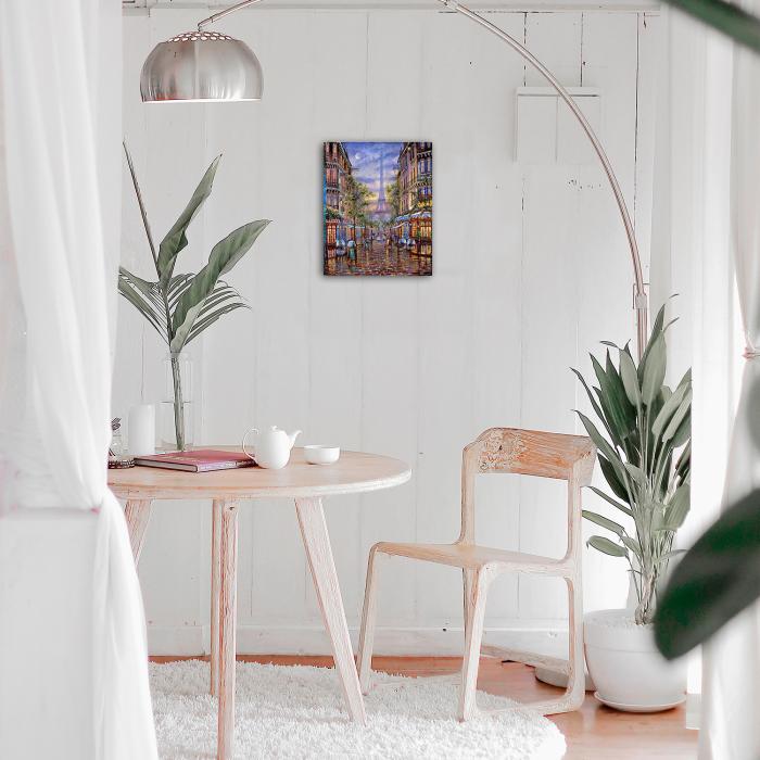 Set goblen cu diamante, cu sasiu, Paris, 40x50 cm 1