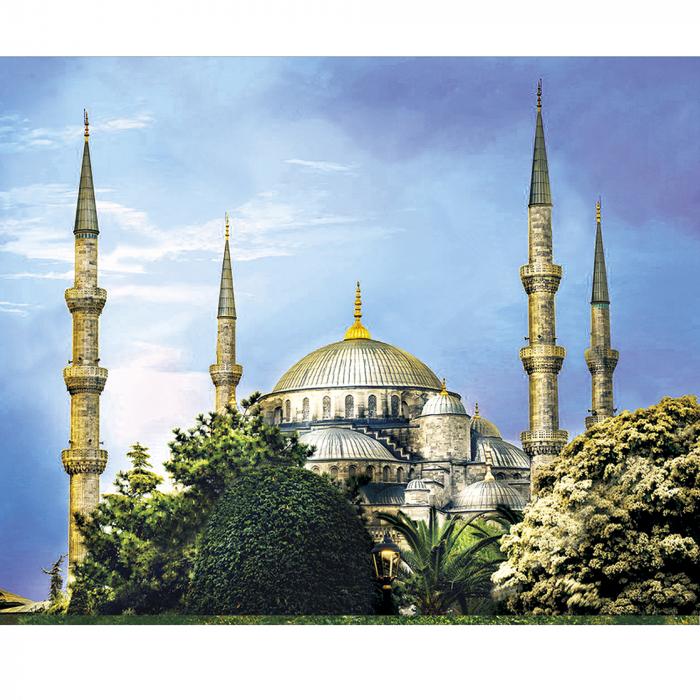 Set goblen cu diamante, cu sasiu, Moscheea Albastra, 40x50 cm 0