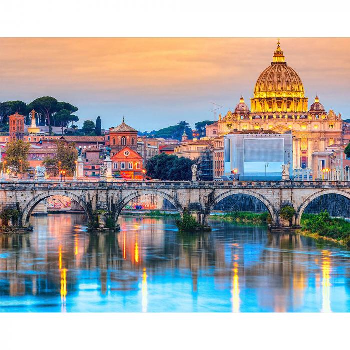 Set goblen cu diamante, cu sasiu, Podul Sant'Angelo [0]