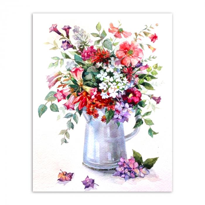 Goblen cu Diamante, cu sasiu, Rapsodie florala, 40x50 cm 0