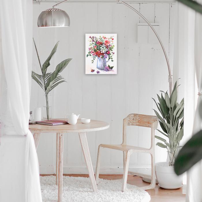 Goblen cu Diamante, cu sasiu, Rapsodie florala, 40x50 cm 3