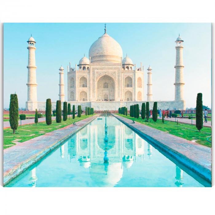 Goblen cu diamante, cu sasiu, Taj Mahal 0