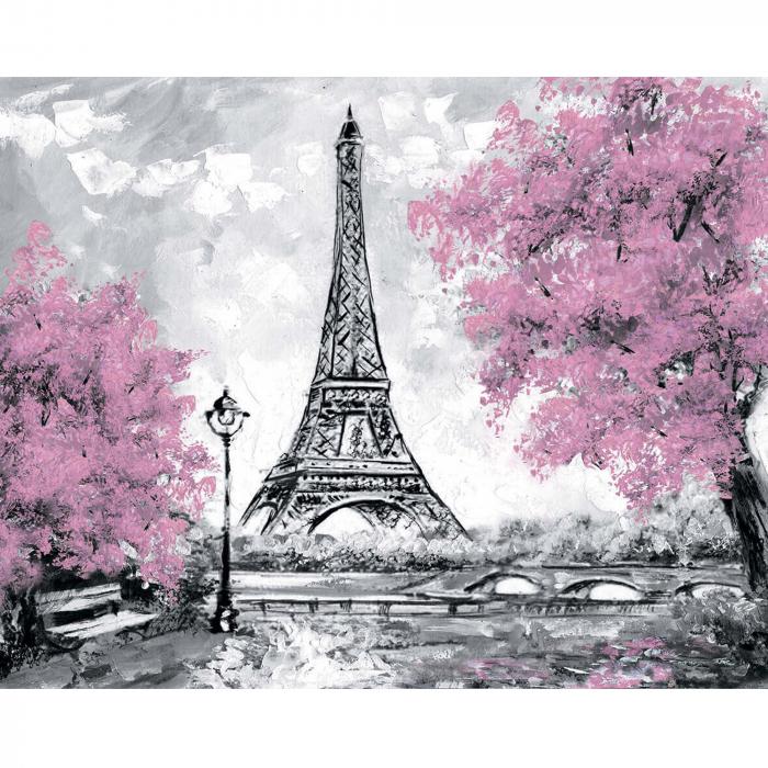 Goblen cu Diamante, cu sasiu, Turnul Eiffel 0