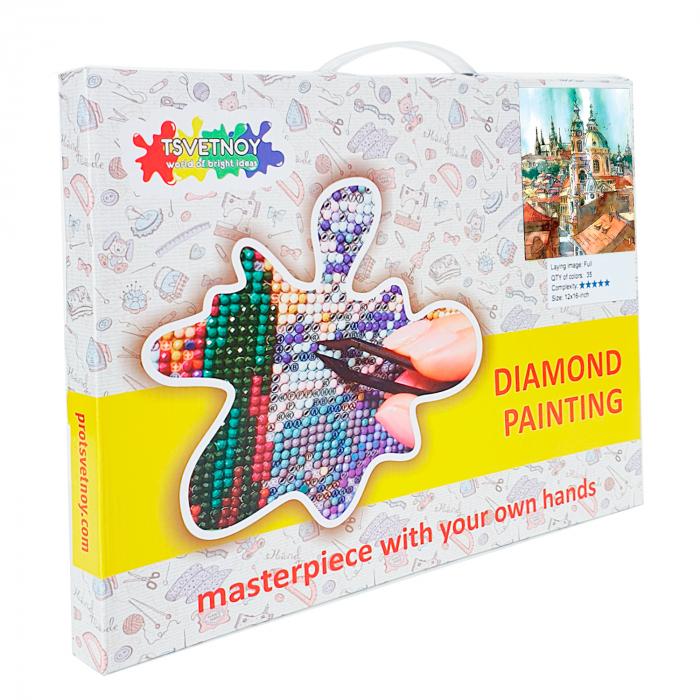 Goblen cu Diamante, cu sasiu, Turnurile vechiului oras, 40x50 cm [2]