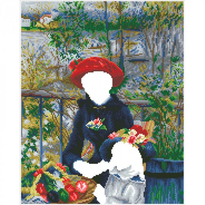 Goblen cu diamante, Doua surori pe terasa - Renoir, 42x52 cm [1]