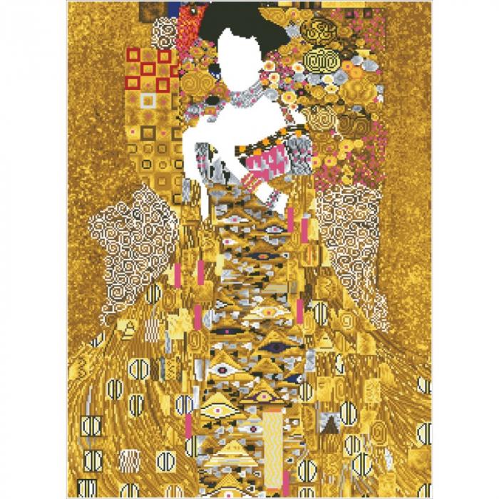 Goblen cu diamante, Femeia in Aur - Klimt 91x67cm [11]