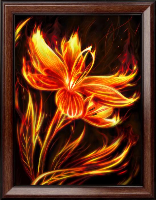 Set goblen cu diamante, fara sasiu, Floare de foc [0]