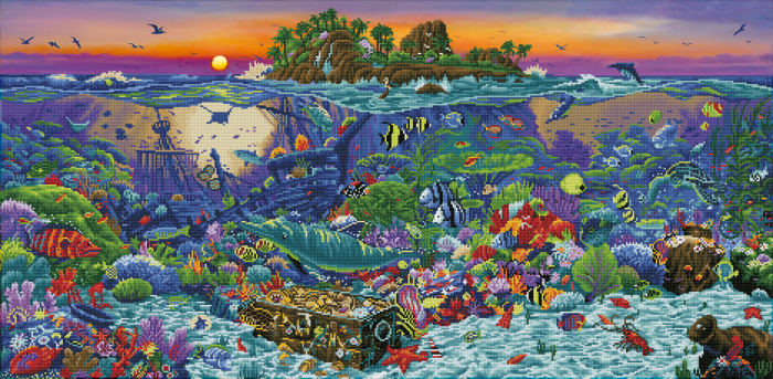 Goblen cu diamante,  Insula de corali, 132x65 cm [0]