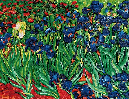 Goblen cu diamante, Irisi - Van Gogh 56x71 cm [0]