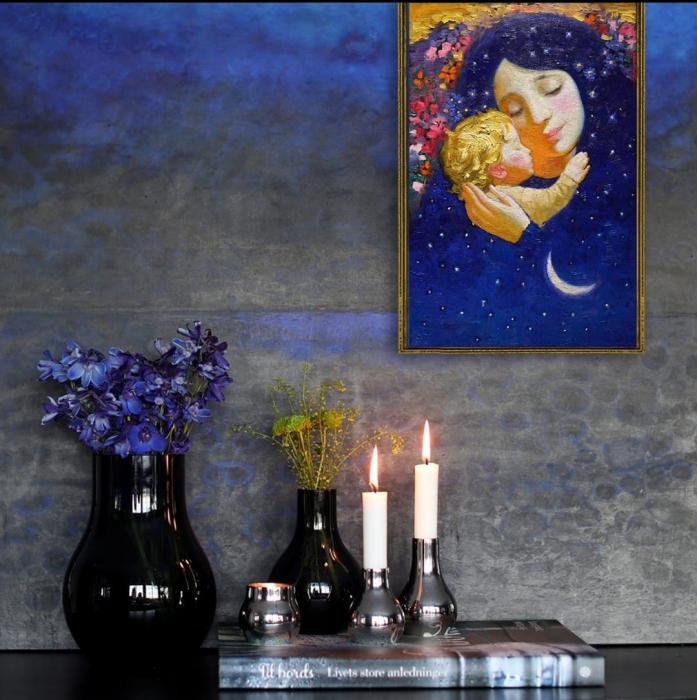 Set goblen cu diamante, fara sasiu, Maternitate, 38x27cm [3]
