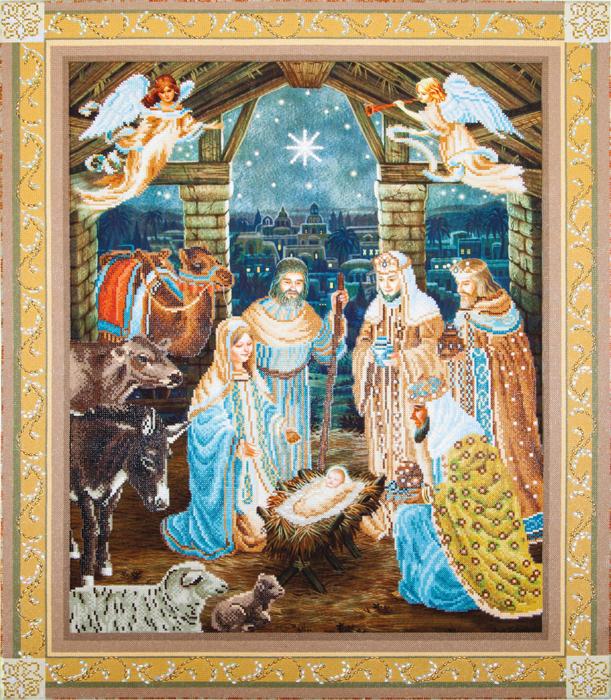 Goblen cu diamante, Nasterea lui Iisus, 100x85 cm [0]