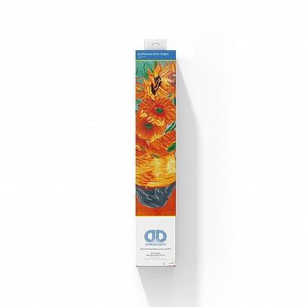 Goblen cu diamante,  Vaza cu flori - Van Gogh 71x56 cm  I Goblenuri cu diamante I dego.ro [2]