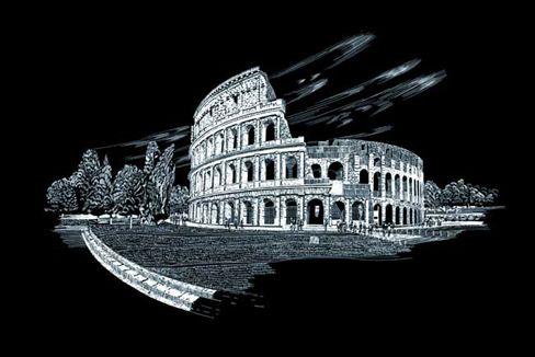 Set gravura, folie argintie, Colosseum [0]