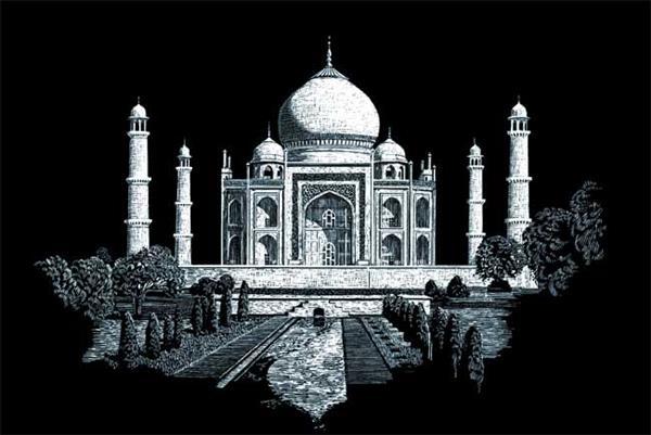 Set gravura folie argintie, Taj Mahal [0]