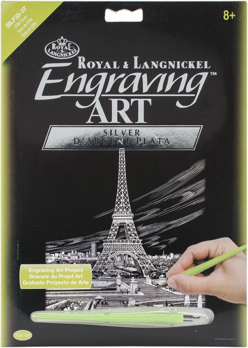 Set gravura folie argintie, Turnul Eiffel 0