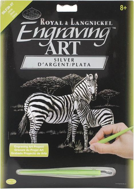 Set gravura folie argintie, Zebre [1]