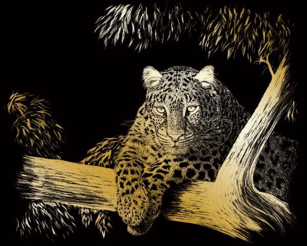 Set gravura folie aurita, Leopard [0]