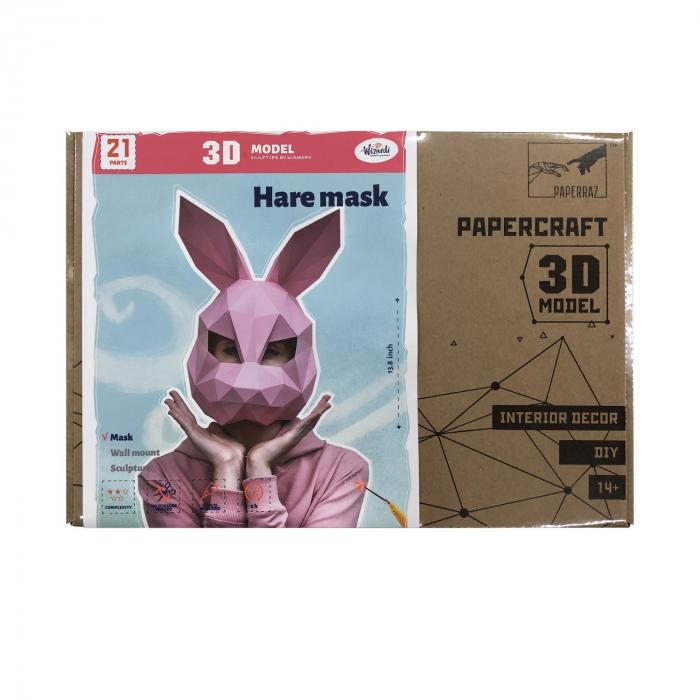 Set origami 3D, Masca Roz 1