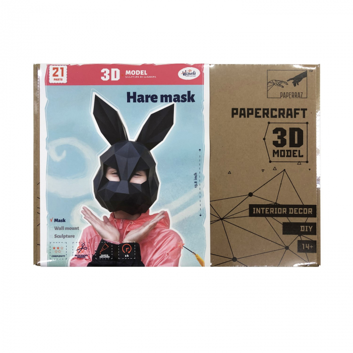 Set origami 3D, Masca Neagra 1
