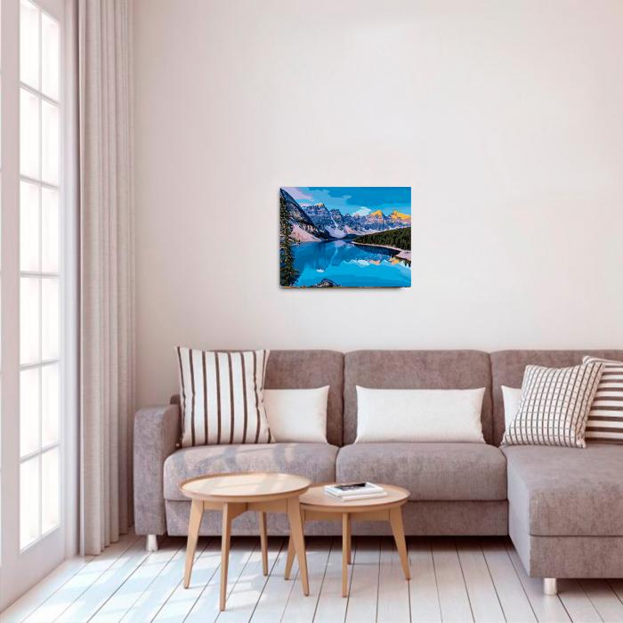 Set pictura pe numere, cu sasiu, Mountain River, 40x50 cm 2