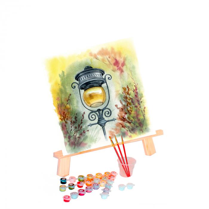 Pictura pe numere, cu sasiu, Atmosfera, 40x50 cm 2