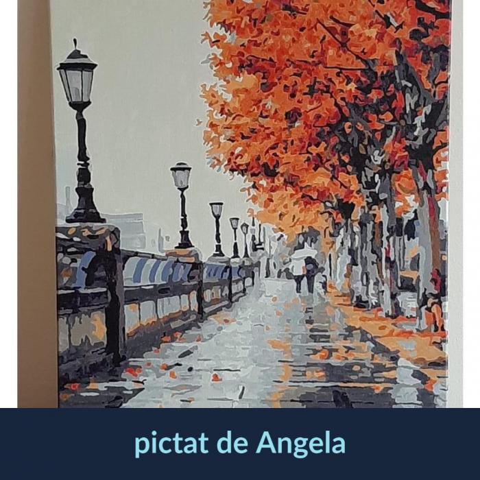Set pictura pe numere, cu sasiu, Autumn, 40x50 cm [5]