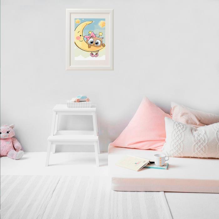 Set pictura pe numere, cu sasiu, Baby Luna, 20x30 cm 2