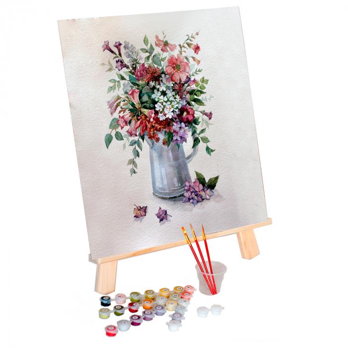 Set pictura pe numere, cu sasiu, Flower Rhapsody, 40x50 cm 0