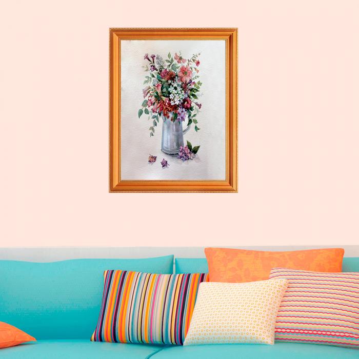 Set pictura pe numere, cu sasiu, Flower Rhapsody, 40x50 cm 2