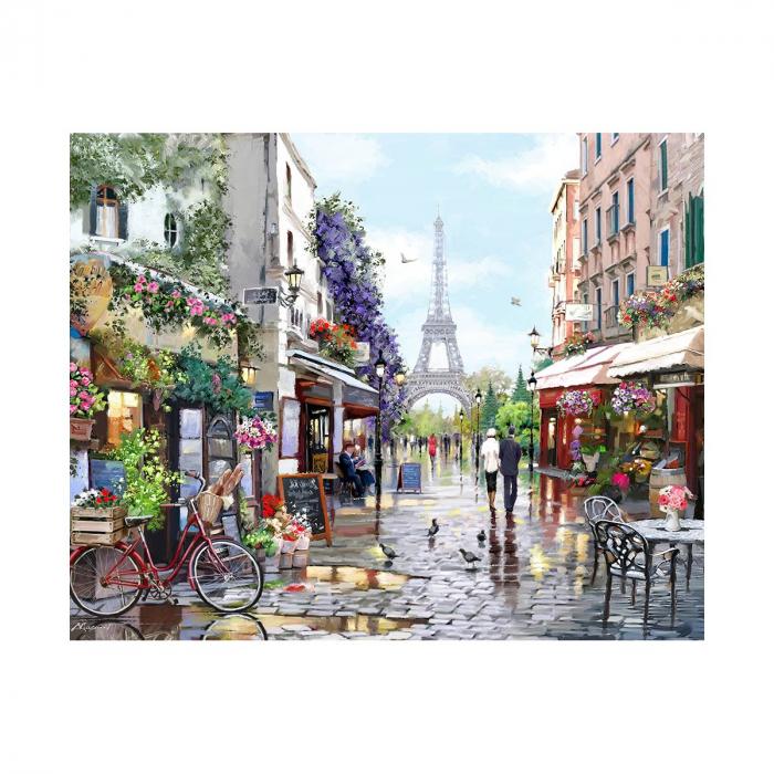 Set pictura pe numere, cu sasiu, Paris in Spring, 40x50 cm 0