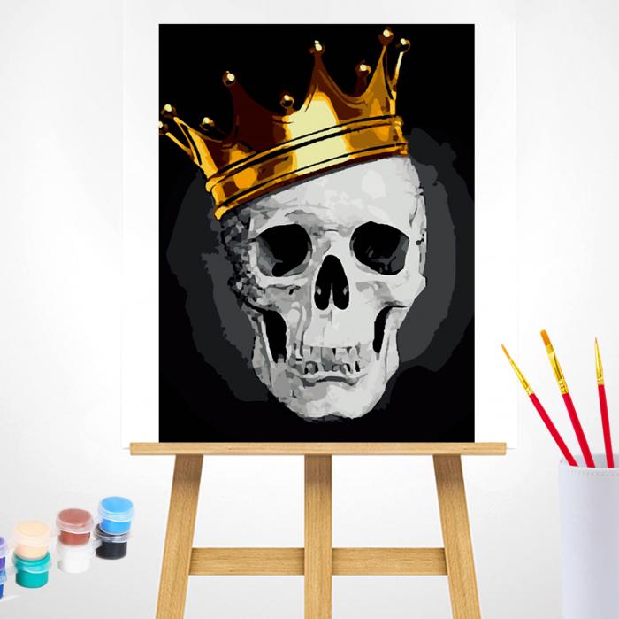 Pictura pe Numere, cu sasiu, Fashionable Skull, 40x50 1