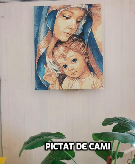 Set pictura pe numere, cu sasiu, Fecioara Maria, 40x50 cm [1]