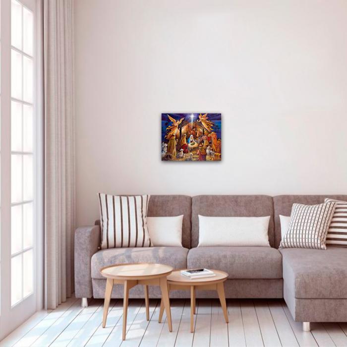 Set pictura pe numere, cu sasiu, Nasterea Pruncului, 40x50 cm 2