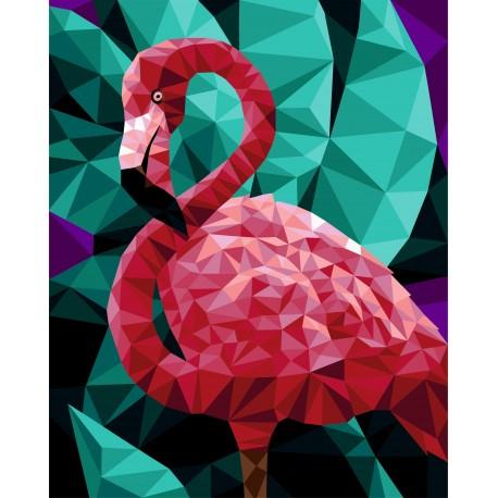 Set pictura pe numere, cu sasiu, Flamingo, 40x50 0