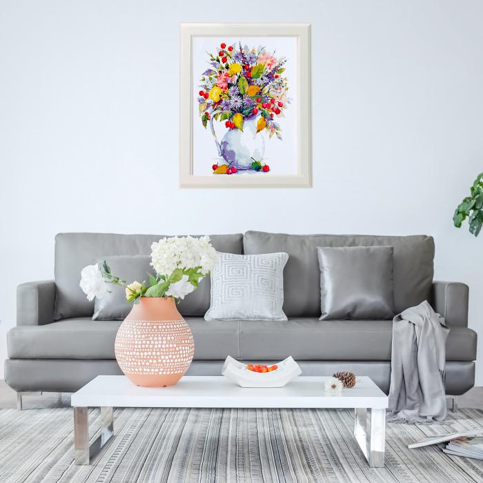 Set pictura pe numere, cu sasiu, Flori de camp 2, 40x50 cm 2