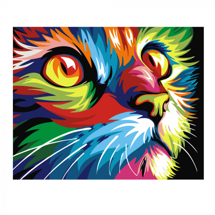 Pictura pe numere, cu sasiu, Pisica [0]