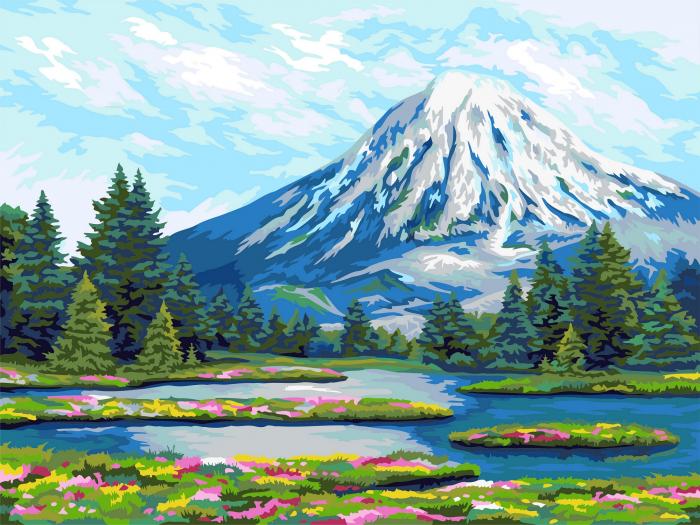 Set pictura pe numere, cu sasiu, Kamchatka 0