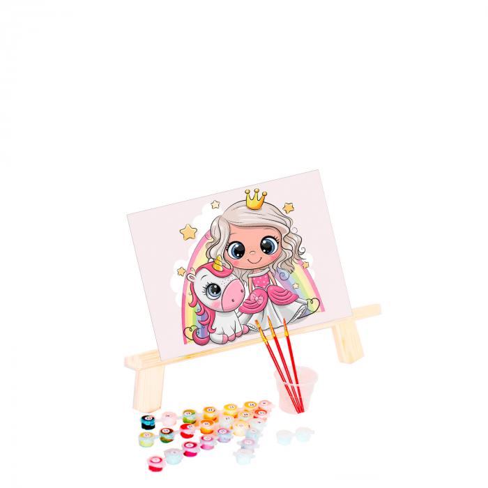 Pictura pe numere, cu sasiu, Little princess, 20x30 cm 0