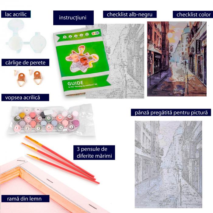 Set pictura pe numere  Luminile Orasului [3]