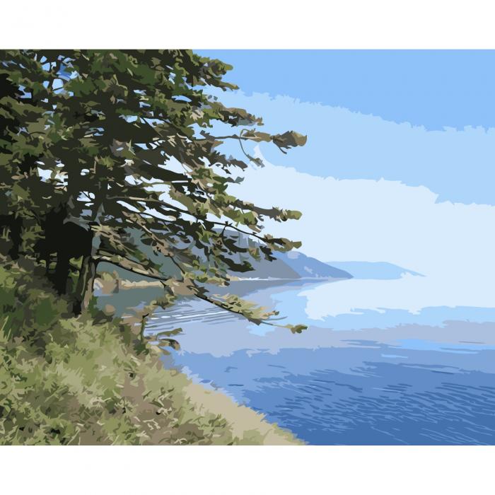 Set pictura pe numere, cu sasiu, Lacul Baikal, 40x50 cm 0