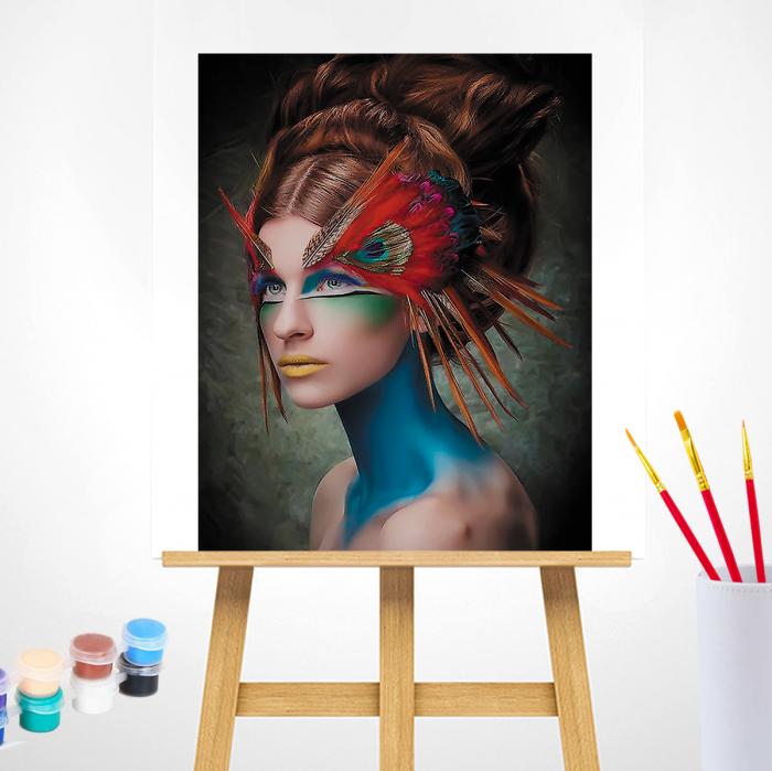 Pictura pe Numere, cu sasiu, Masquerade, 40x50 1