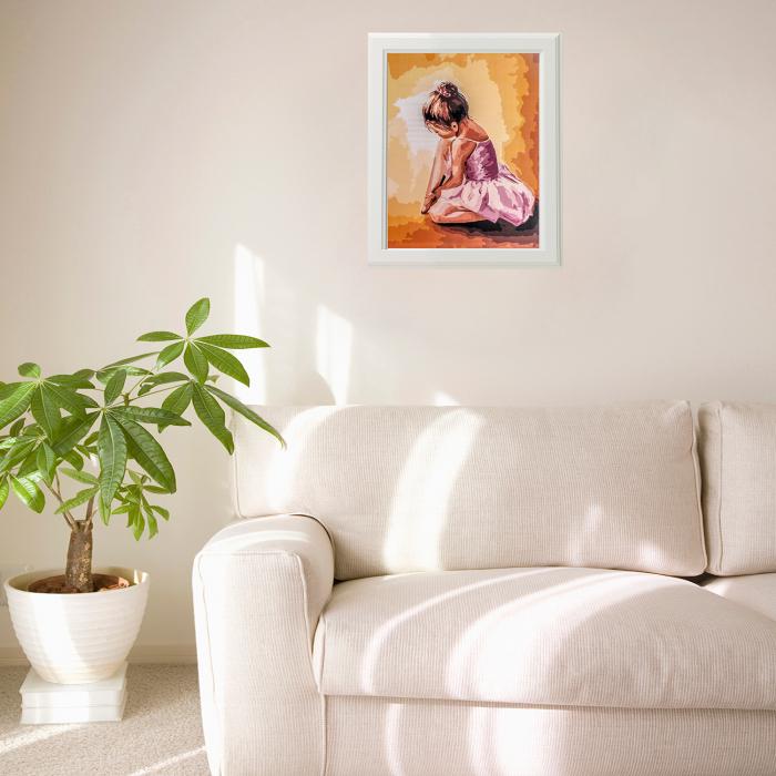 Set pictura pe numere, cu sasiu, Balerina baby, 40x50 cm 1