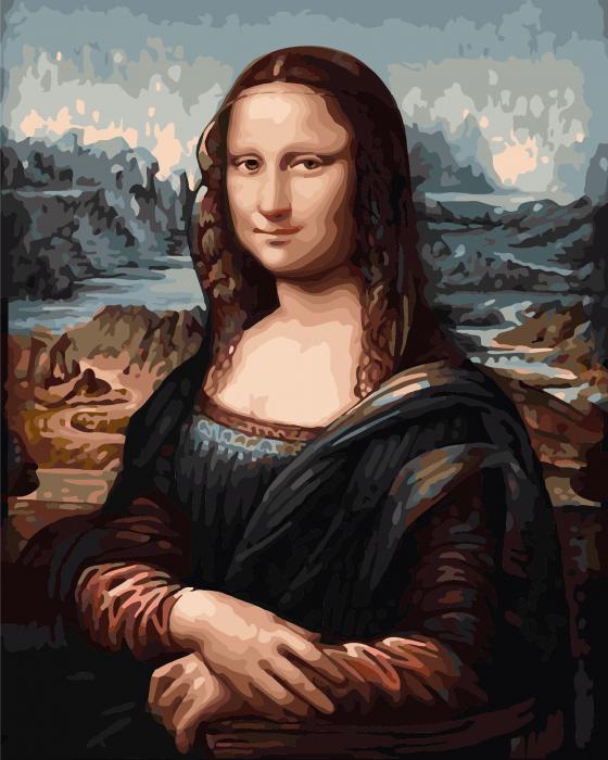 Pictura pe numere Mona Lisa | Picturi pe numere | dego.ro 0