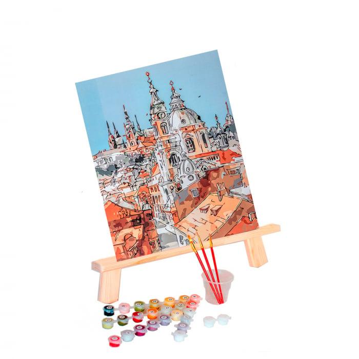 Pictura pe numere, cu sasiu, Turnurile Vechiului Oras, 40x50 cm [0]