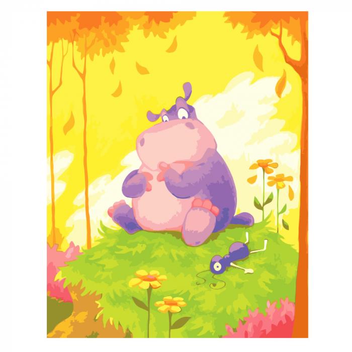 Pictura pe numere, cu sasiu, Hippo 0
